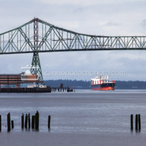Astoria Bridge and Cargo Ship, Horizontal