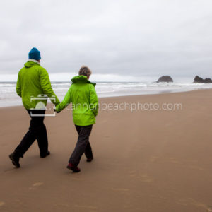 Hand in Hand on the Oregon Coast
