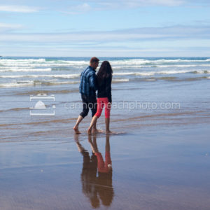 Romantic Couple, Edge of the Pacific Ocean, Vertical