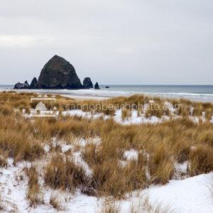 Snow on the Beach – Cannon Beach, Oregon