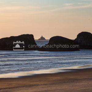 Tillamook Lighthouse Through Murre Rocks