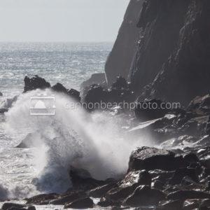 Wave Crashing on the Shore