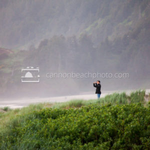 Woman Picturing Seascape