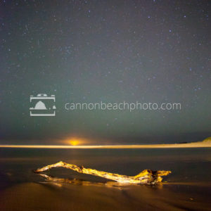 Stars Over Driftwood, Cannon Beach