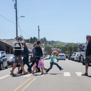 Cannon Beach Street Crossing, Bruce's Candy Kitchen