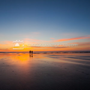 Couple at Sunset, Wide View