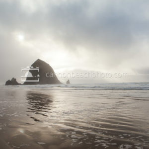 Haystack Rock Foamy Shoreline