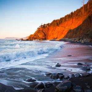 Sunset at Oregon Black Sands Beach