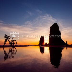 Beach Bike at Sunset