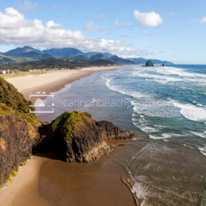 Sunny View of Cannon Beach from Chapman Point