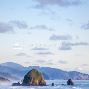 Sunny View of Haystack Rock from the North