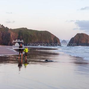 Sunset Couple Walking on the Beach 1