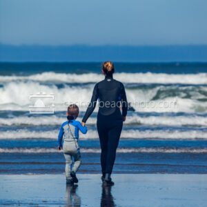 Mother and Son, Surf Lessons