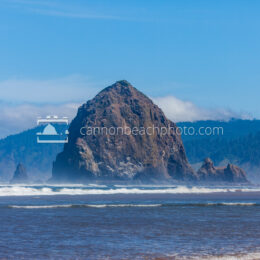 Sunny Ocean View of Haystack Rock