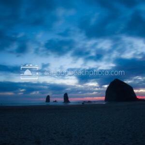 Blue Moon over Haystack Rock