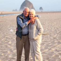 Elderly Couple in Cannon Beach