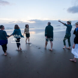 Family Walking to the Pacific Ocean 2