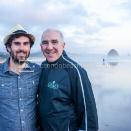 Father and Son in Cannon Beach