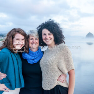 Mother and Daughters in Cannon Beach