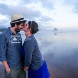 Romantic Couple in Cannon Beach