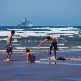 Boys Skimboarding in Cannon Beach 2