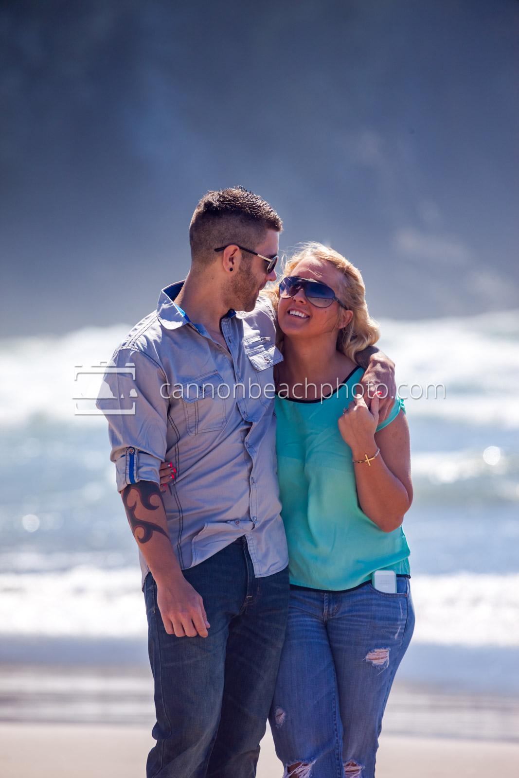 Couple on the Oregon Coast Shore