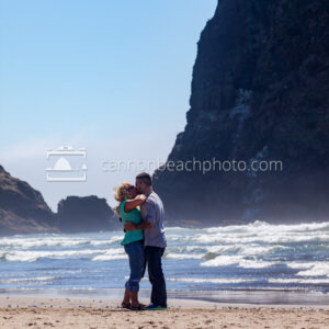 Kissing Couple Near Haystack Rock