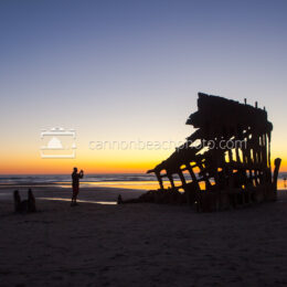 Peter Iredale Silhouette