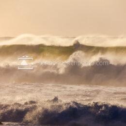 Huge Waves Crash in the Sunlight