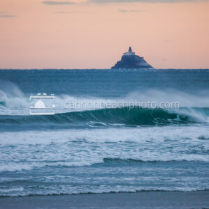 Tillamook Lighthouse and Wave Curl, Color