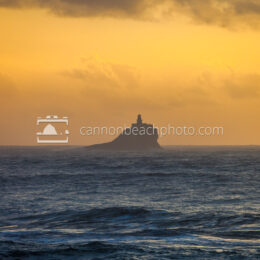 Tillamook Lighthouse at Sunset from Seaside