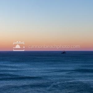 Tillamook Lighthouse in the Evening Sunset Gradient
