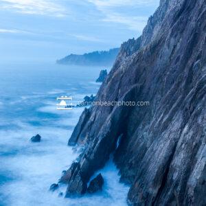 Neahkahnie Cliffs in Blue, Vertical