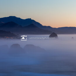 Serene Evening - Fog at Ecola State Park