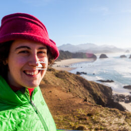 Winter Woman at Ecola State Park