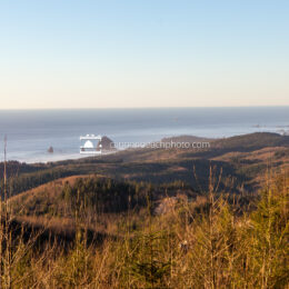 Winter Distance View of Cannon Beach