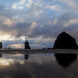 Haystack Rock Golden Spring Sunset 2