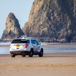 Cannon Beach Police on the Beach 2